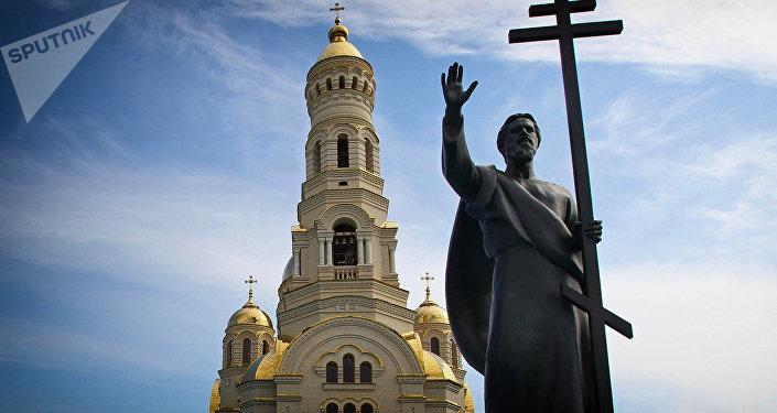 Открытие памятника Святому Апостолу Андрею Первозванному в Мордовии