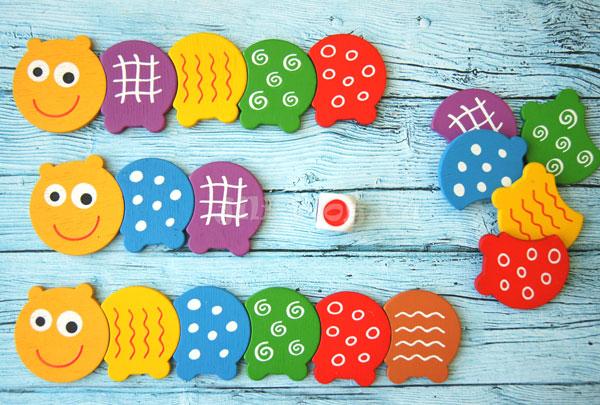 Настольная игра Разноцветные гусенички