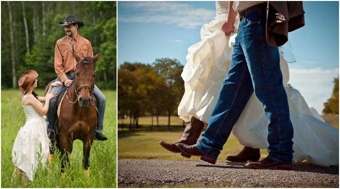 3 года (Кожаная свадьба) в ковбойском стиле