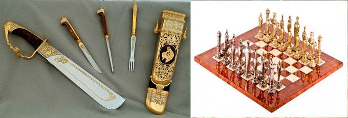 Коллекционное оружие, оловянные шахматы