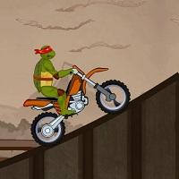 Игра Черепашки Ниндзя катаются на мотоцикле онлайн