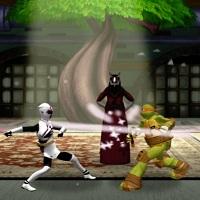 Игра Черепашки-ниндзя: драки с Могучими рейнджерами 2 онлайн
