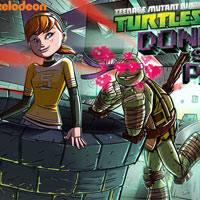 Игра Черепашки Ниндзя спасают принцессу онлайн
