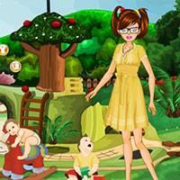 Игра Детский сад: няня одевалка онлайн