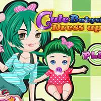 Игра Детский сад: одень малышку онлайн
