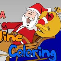 Игра Раскрась Деда Мороза онлайн