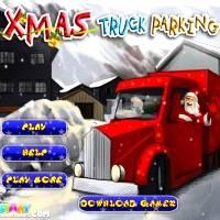 Игра Парковка новогоднего грузовика Санты онлайн