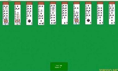Игра пасьянс паук 2масти играть бесплатно картабита