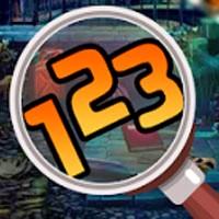 Игра Поиск предметов: Поиск цифр на фотографиях онлайн