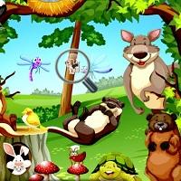 Игра Поиск животных в джунглях онлайн