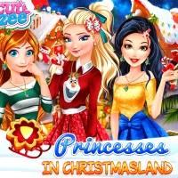 Игра Принцессы в Стране Рождества онлайн