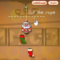 Игра Режь веревку с Сантой онлайн