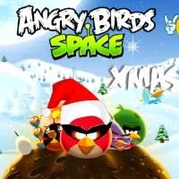 Игра Рождественские Angry Birds онлайн