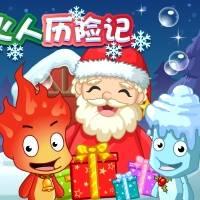 Игра Рождественские бродилки на двоих онлайн