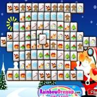 Игра Рождественский Маджонг онлайн
