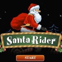 Игра Санта байкер онлайн