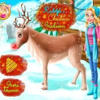Игра Уход за рождественским оленем Санты онлайн