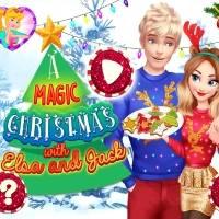 Игра Волшебное Рождество Эльзы и Джека онлайн