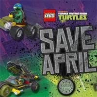 Игра Черепашки ниндзя Бродилки по Лего-городу онлайн