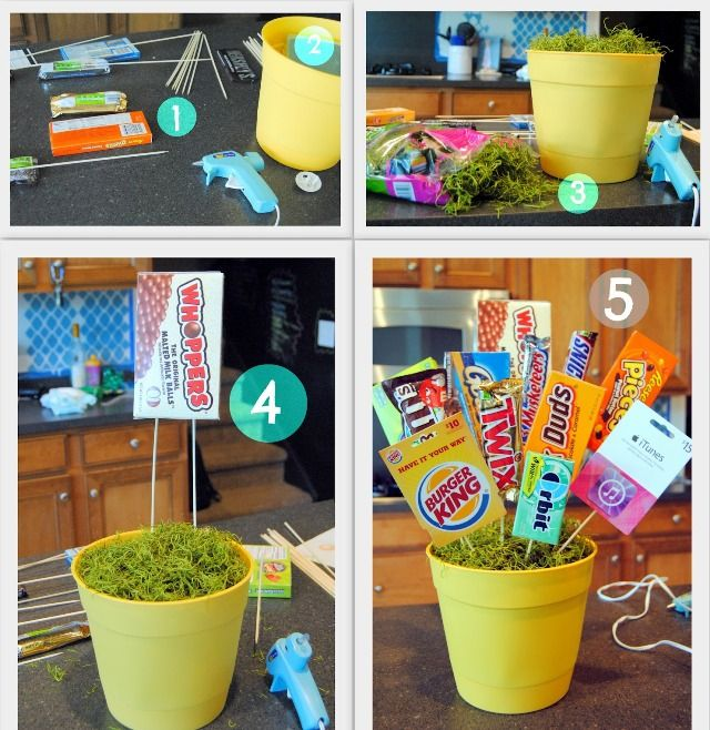 Как сделать оригинальный подарок на день рождения – сладкий горшочек