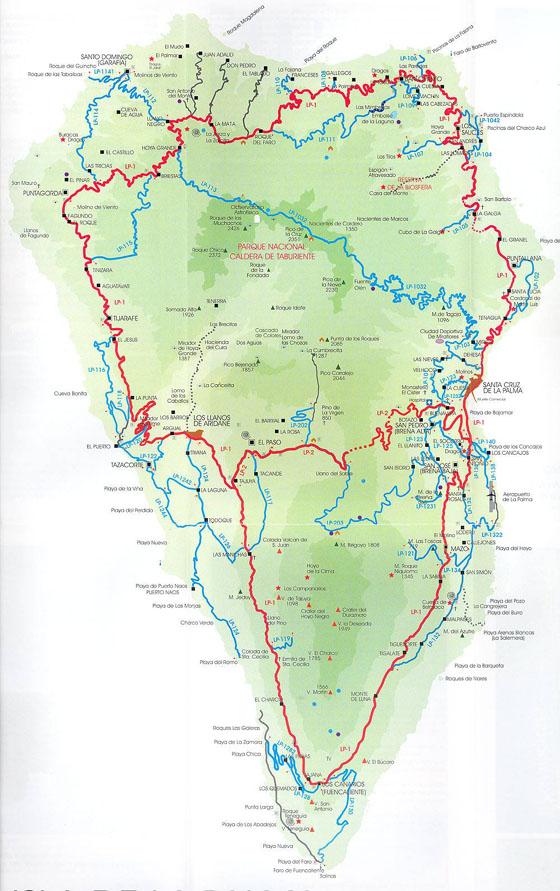 Детальная карта Ла Пальмы 1