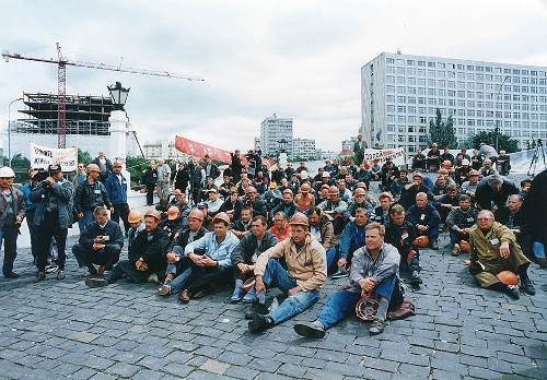 Митинг шахтеров
