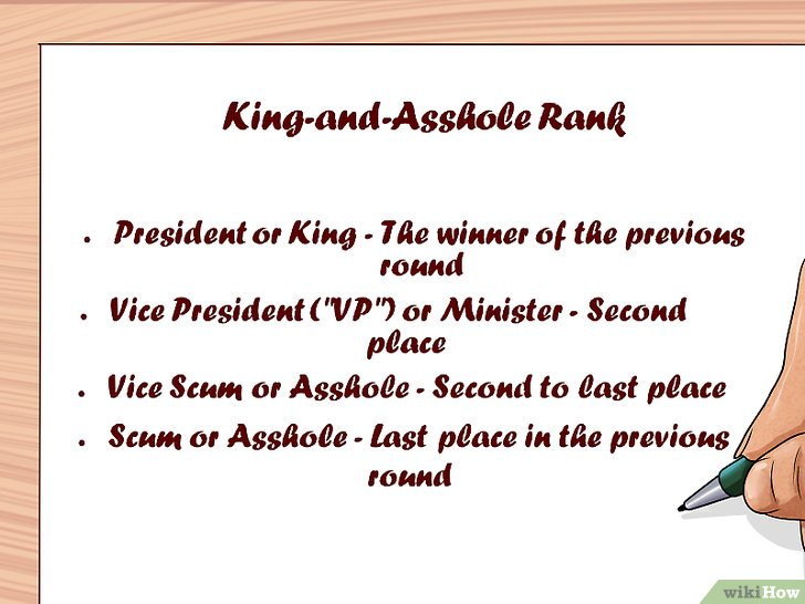 Изображение с названием Play King and Asshole Step 1