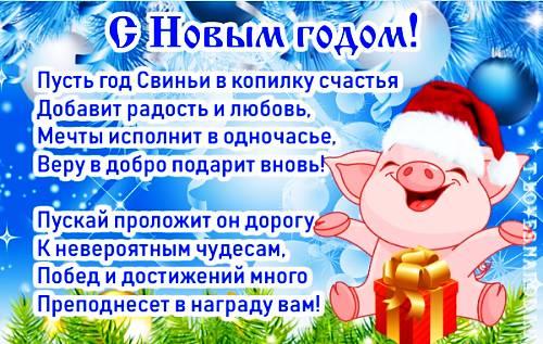 Поздравления с годом Свиньи в стихах и по смс - фото 5