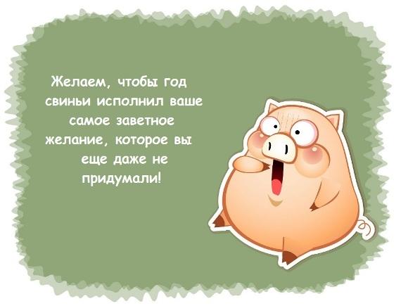 Поздравления с годом Свиньи в стихах и по смс - фото 6