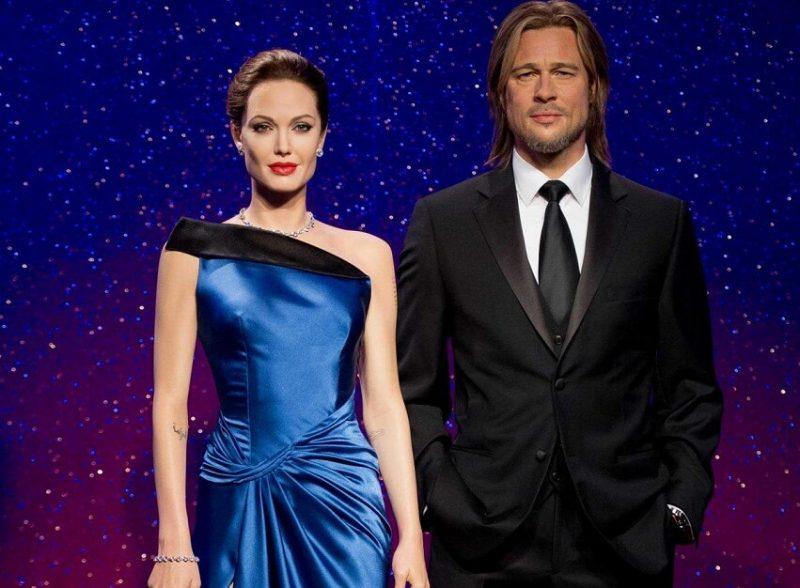 Брэд Питт и Анджелина Джоли в музее восковых фигур