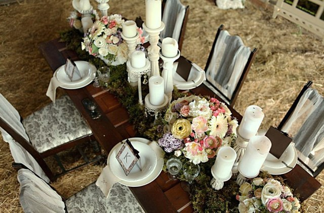 Бумажная свадьба в деревенском стиле
