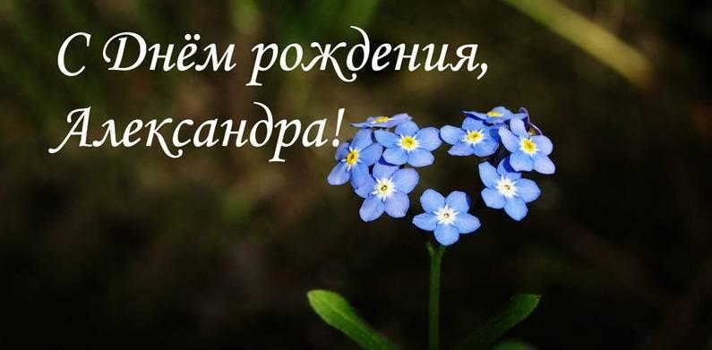Красивое поздравление для Александры в стихах