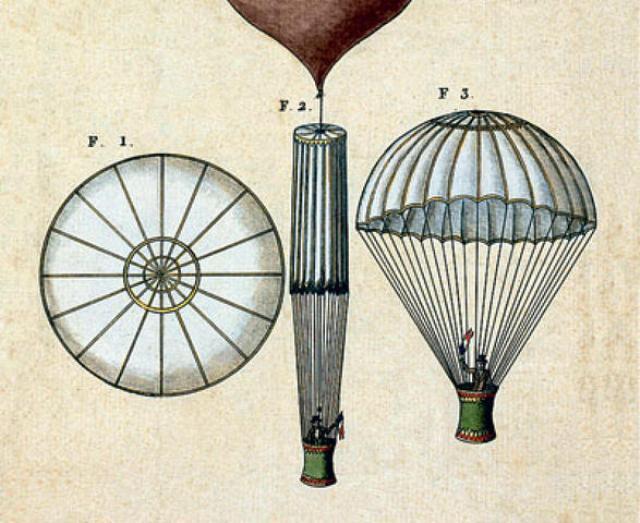 Самый первый парашют