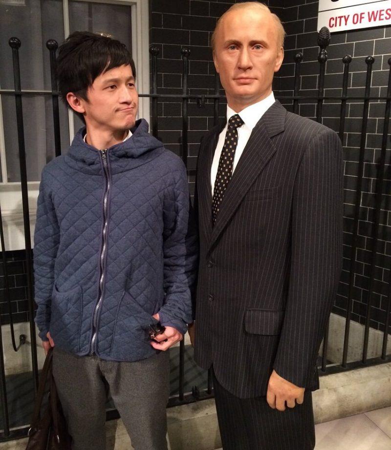 Владимир Путин в музее восковых фигур