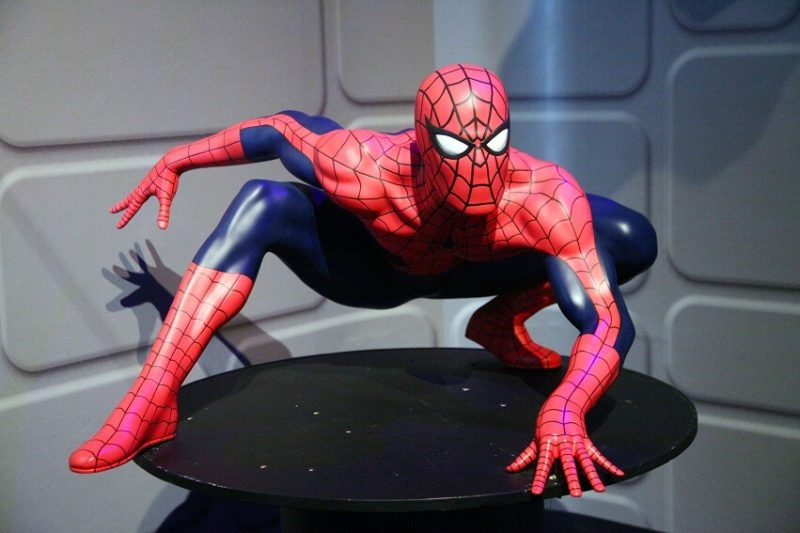 Восковая фигура человека паука в Лондоне