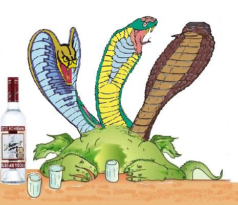 Драконо-змей - поздравление на Год ЗМЕИ 2012