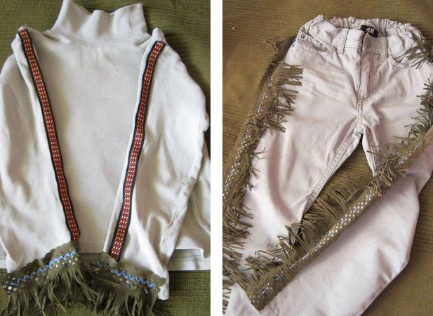 Как изготовить костюм индейца