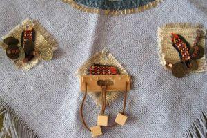 Украшения на костюме индейца