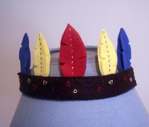 Индейская шляпа с перьями