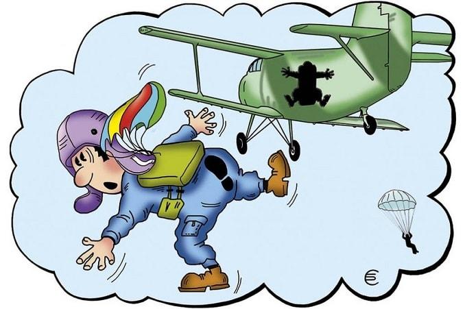 первый прыжок парашютиста
