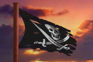 Флаг на пиратский праздник