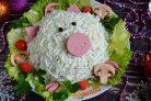 """Салат """"Свинка"""" на Новый год"""