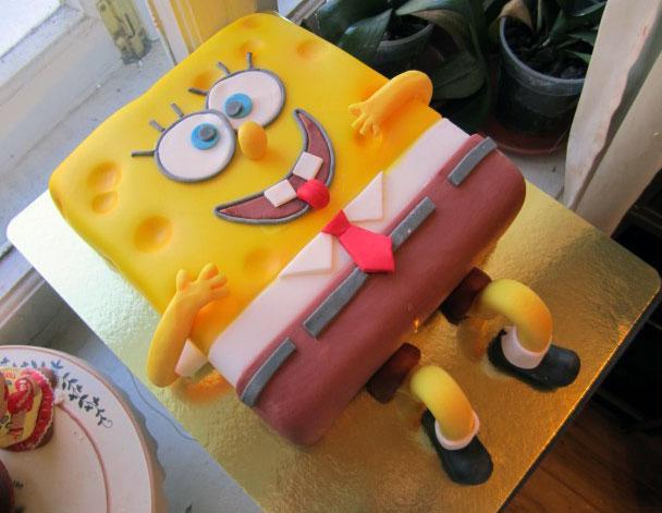 Торт в стиле Спанч Боба