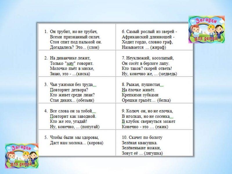 Загадки для маленьких детей