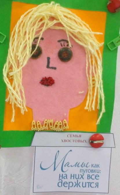 Мастер-класс: портрет мамы «Мамочки как пуговицы: на них все держится!»