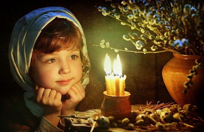 Вербное воскресенье открытка