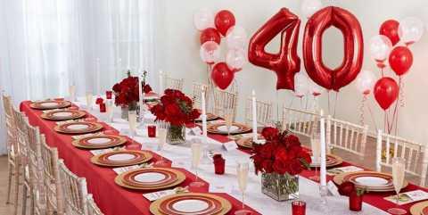 Поздравление с рубиновой свадьбой в стихах